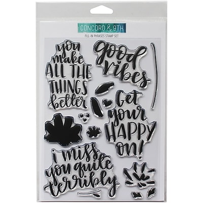 Concord & 9th Fill-In Phrases Clear Stamps, 6