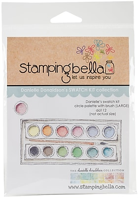 Stamping Bella Circle Palette W/Large Brush Danielle's Rubber Stamps (DD112)