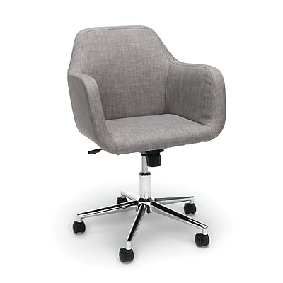 Essentials by OFM Upholstered Home Desk Chair, Gray (ESS-2085-GRY)