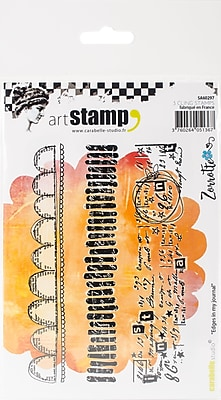 Carabelle Studio Edges In My Journal Cling Stamp A6 By Zorrotte (SA60297)