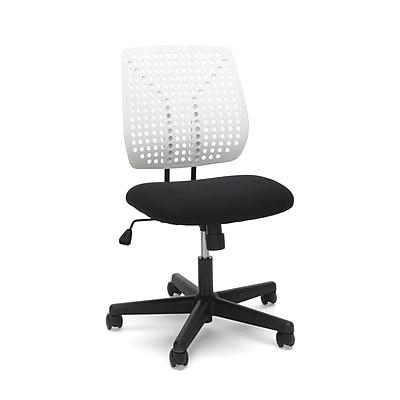 Essentials by OFM Model Plastic Back Task Chair, Black White (ESS-2050-BLK-WHT)