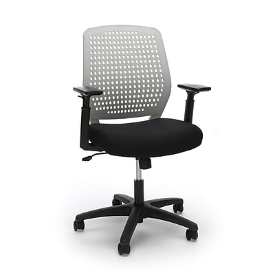 Essentials by OFM Model Plastic Back Ergonomic Task Chair, Black Gray (ESS-2055-BLK-GRY)