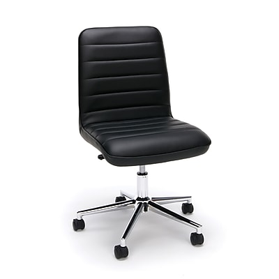 Essentials by OFM Mid Back Chair, Black (ESS-2080-BLK)