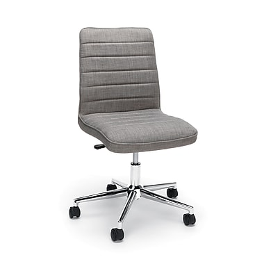 Essentials by OFM Mid Back Chair, Gray (ESS-2080-GRY)
