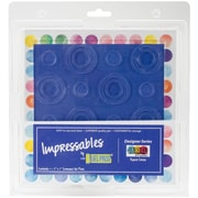 "Gel Press Repeat Circles Gel Press Impressables 7"" X 7"" Embossed Gel Plate By Jen Starr (10815-01)"