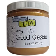 Crafters Workshop Gold Gesso, 8 oz. (TCWG9003)
