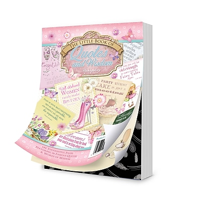 Hunkydory Crafts Quotes & Wisdom The Little Book Of A6 Paper Pad, 144/Pkg (LBK124)