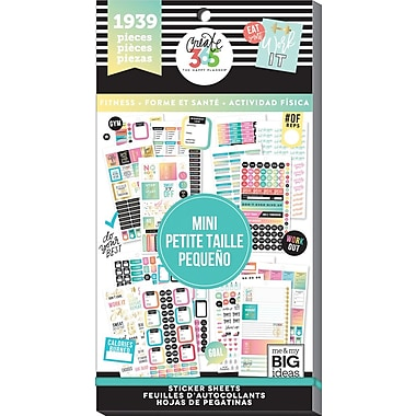 Me & My Big Ideas Mini Work It Out Create 365 Happy Planner Sticker Value Pack (PPSV-36)