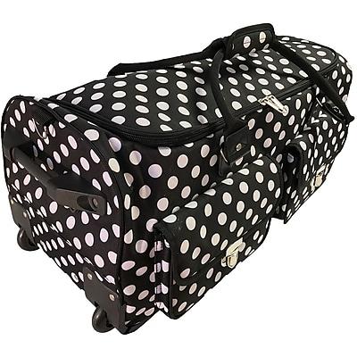 C-Gull Rolling Craft Machine & Supply Bag 2.0, Black With White Polka Dots (10-0014)