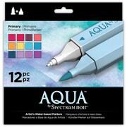 Crafter's Companion Spectrum Noir Aqua Markers, 12/Pkg, Primary (SPECNAQ-PRI)