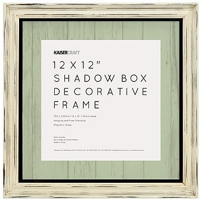 Kaisercraft Antique White Distressed Shadow Box Frame, 12