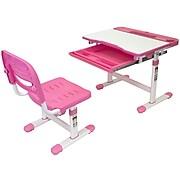 "Mount-It! 26"" Kid's Desk with Chair, Pink (MI-10203)"