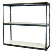"""Storage Concepts Office Shelving, Heavy Duty Boltless, 3 Shelves with White Laminated Board, 96""""H x 72""""W x 24""""D"""