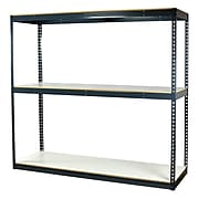 """Storage Concepts Office Shelving, Heavy Duty Boltless, 3 Shelves with White Laminated Board, 96""""H x 60""""W x 24""""D"""