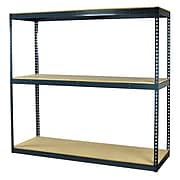 "Storage Concepts Office Shelving, Heavy Duty Boltless, 3 Shelves with Particle Board, 96""H x 60""W x 24""D"
