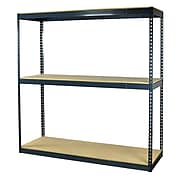 "Storage Concepts Office Shelving, Heavy Duty Boltless, 3 Shelves with Particle Board, 96""H x 48""W x 24""D"