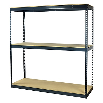Storage Concepts Office Shelving, Heavy Duty Boltless, 3 Shelves with Particle Board, 96