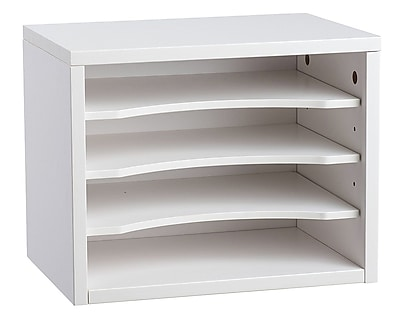 Adiroffice White Wood Desk Workspace Organizers, 11