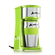 Adirchef Grab N' Go Ruby Sour Green Personal Coffee Maker With 15 Oz. Travel Mug (800-01-SGR)
