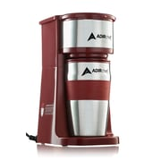 Adirchef Grab N' Go Ruby Red Personal Coffee Maker with 15 oz. Travel Mug (800-01-RR)