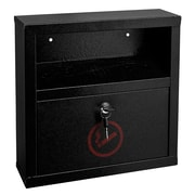 "Alpine Industries Black Steel Quick Clean Cigarette Disposal Bin 12.2'' H X 5.8"" W X 4.2"" D (490-02-BLK)"