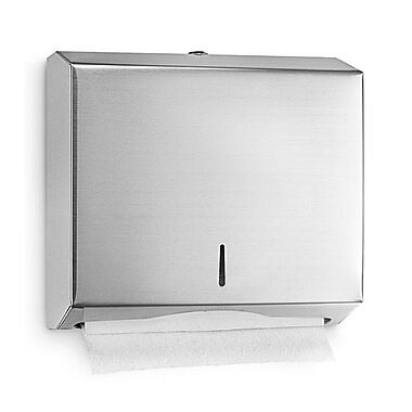 Alpine Industries C-Fold/Multifold Paper Towel Dispenser, Stainless Steel Brushed 10.2