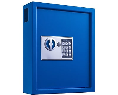 Adiroffice Blue Steel 40 Key Cabinet With Digital Lock H 14.3