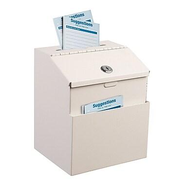 Adir Steel White Suggestion Box With Lock (631-01-WHI)