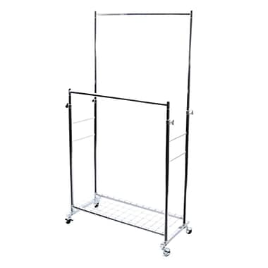 Seville Classics Commercial Double Rod Garment Rack (WEB395)