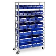 Seville Classics 24-Bin Commercial Bin Rack System - Ultra Zinc/Blue (WEB485WEB485)