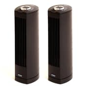 Seville Classics UltraSlimline 17 Inch Oscillating Personal Tower Fan (2-Pack), Black (EHF10123B)