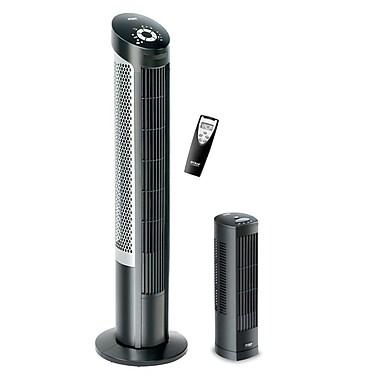 Seville Classics UltraSlimline Tower Fan Combo Pack, Black (EHF10130B)