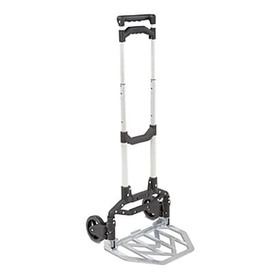 Seville Classics Heavy Duty Folding Hand Truck, Black (MSC20220)