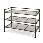 Seville Classic 3-Tier Iron Mesh Utility Shoe Rack, Satin Bronze (SHE15909B)