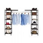Seville Classics Expandable Closet Organizer System, Resin Slat (SHE16199B)