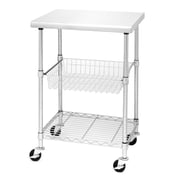 "Seville Classics Stainless Steel Kitchen Work Table Cart - 24""D x 20""W x 36""H (SHE18321B)"