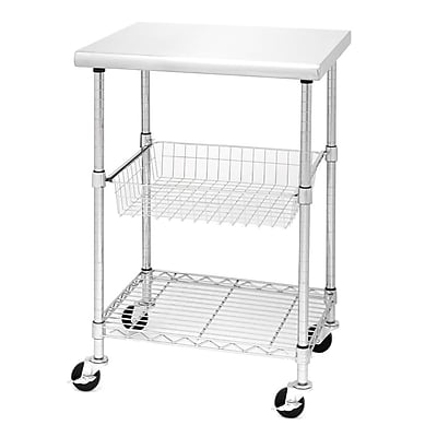 Seville Classics Stainless Steel Kitchen Work Table Cart - 24