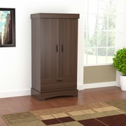 Inval America Contemporary Armoire in Rich Brixton/Oak Laminates (AM-17623)