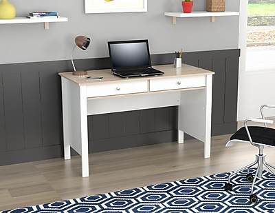 Inval America Writing Desk Laricina White/Beech Laminates (ES7903)