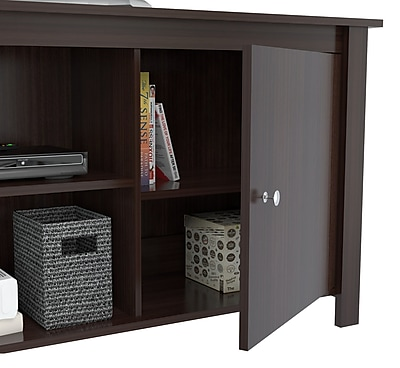 Inval America TV Stand in Espresso-Wengue (MTV-12119)