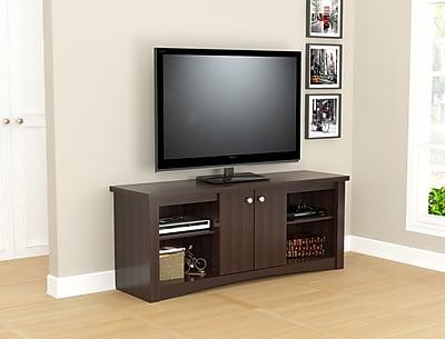 Inval America TV Stand in Espresso-Wengue (MTV-13819)