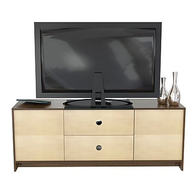 Inval America TV Stand finished in rich Espresso-Wengue laminates (MTV-13919)
