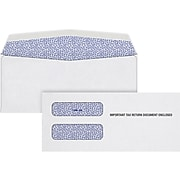 """TOPS Security Tinted Double Window Envelope, 3 3/4"""" x 8 1/2"""", White, 100/Pack (S1099-3E)"""