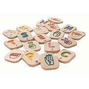 "PlanToys® Hand Sign Alphabet A-Z, 2-1/2"" x 3"" x 1/2"" (5672)"