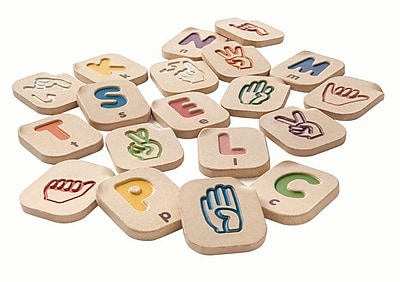 PlanToys® Hand Sign Alphabet A-Z, 2-1/2