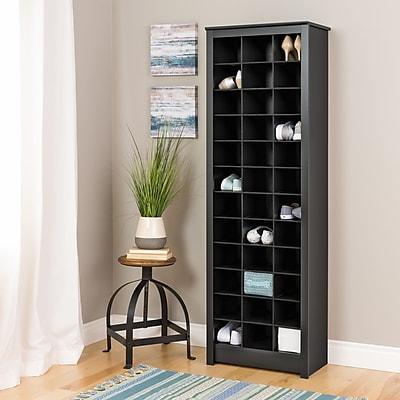 Prepac Space-Saving Shoe Storage Cabinet, Black (BUSR-0009-1)