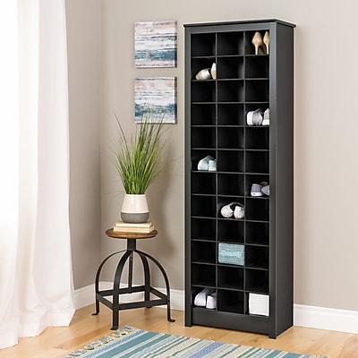 Prepac Space Saving Shoe Storage Cabinet, Black (BUSR 0009 1)