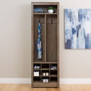 Prepac Space-Saving Entryway Organizer with Shoe Storage, Drifted Gray (DSOH-0010-1)