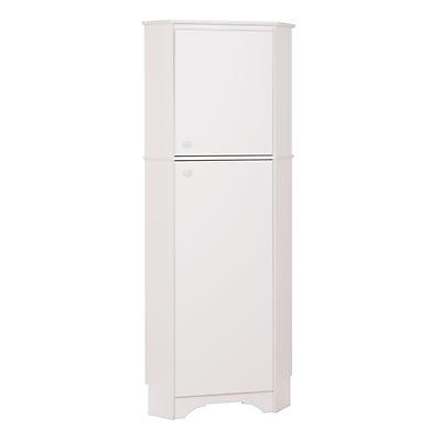 Prepac Elite White Tall 2-Door Corner Storage Cabinet (WSCC-0605-1)