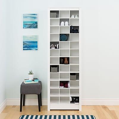 Prepac Space-Saving Shoe Storage Cabinet, White (WUSR-0009-1)